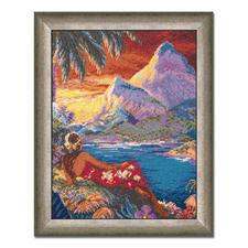 """Gobelinbild """"Hawaii"""" Für besonders plastische Stickbilder – trassierte Gobelins."""