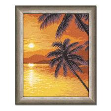 """Gobelinbild """"Sonnenuntergang"""" Für besonders plastische Stickbilder – trassierte Gobelins."""