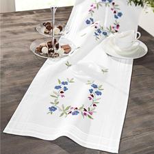 Tischläufer, 40 x 100 cm, Blaue Blümchen