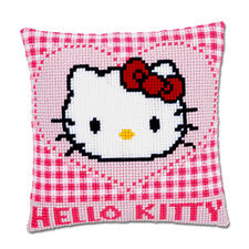 "Stickkissen Hello Kitty ""Herz"""
