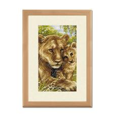 Kreuzstichbild - Löwen