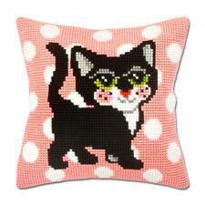"""Kissen oder Teppich """"Design Katzen"""" Dekorativ und farbenfroh: Wohndekorationen im Kreuzstich."""
