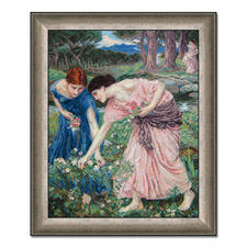 "Gobelinbild ""Gather the Rosebuds"" nach John William Waterhouse Meisterwerke großer Künstler als Gobelinbild."