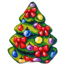 Tannenbaum, Formkissen Fröhliche Weihnachtsmotive zum Sticken.