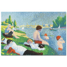 "Stickbild ""Bathers at Asnières"" nach Georges Seurat"