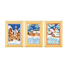 """3 Miniaturen im Set """"Winter"""" Stickideen für die kalte Winterzeit."""