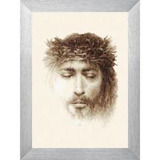 """Stickbild """"Jesus"""" Kreuzstichbild Jesus"""