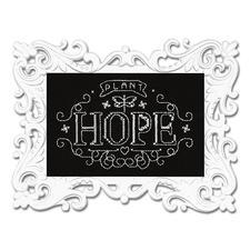 """Stickbild """"Hope"""" mit Ornamentrahmen Wunderschöne Schriftbilder im einfachen Kreuzstich selbst gestickt."""