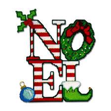 """Tür- oder Wanddeko """"Noel"""" Moderne Stickidee."""