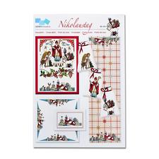 Kreuzstich-Zählmuster-Vorlagen - Nikolaustag Klassische Weihnachts-Stickerei