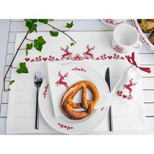 """Festliche Tischwäsche-Serie """"Hirsche"""" Weihnachten mit nordischem Charme."""