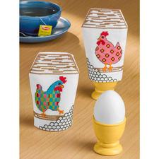 """Eierhütchen-Sets """"Verrückte Hühner"""""""