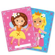2 Stickbilder im Set - Fee und Prinzessin Stickspaß für Kinder