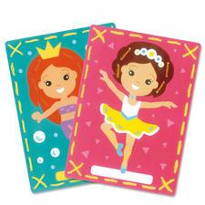 2 Stickbilder im Set - Meerjungfrau und Ballerina Stickspaß für Kinder