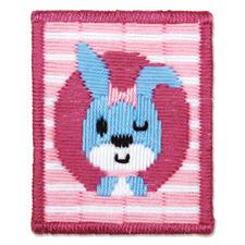 """Stickbild """"Zwinkerndes Kaninchen"""" Stickspaß für Kinder"""