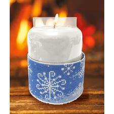 """Kerzen-""""Corsage"""" Schneeflocken Stickideen für die kalte Winterzeit"""