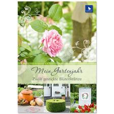 """Buch - Mein Gartenjahr – Zwölf gestickte Blütenkränze Buch """"Mein Gartenjahr"""""""