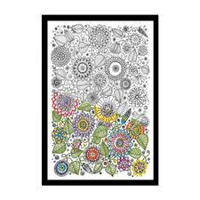 """Stickbild """"Floral"""" Zenbroidery – Die Kunst des freien Stickens"""