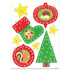"""Weihnachts-Anhänger """"Igel & Eule"""" """"Meine ersten Weihnachts-Anhänger"""" – für Kinder ab 3 Jahren."""