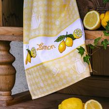 """Hochwertiges Baumwoll-Geschirrtuch """"Lemon"""" Dekoratives für die Küche."""