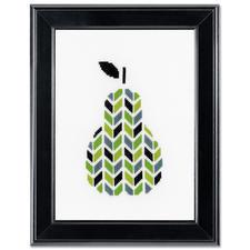 Stickbild - Birne Modern Stitching -