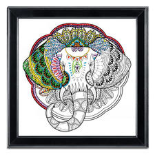 "Stickbild Zenbroidery - Elephant Stickbild Zenbroidery ""Elephant"""