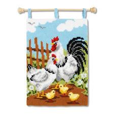 """Kreuzstich-Wandbehang """"Hühner"""""""