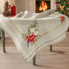"""Klassische Tischdecke - Weihnachtsstern Klassische Tischdecke """"Weihnachtsstern"""""""