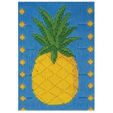 """Longstichbild """"Ananas"""" Longstichbilder – kinderleicht und schnell gestickt."""