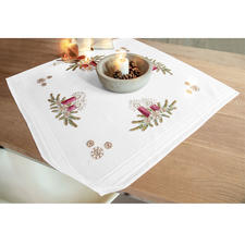 """Tischwäsche mit eingewebtem Zierrand """"Weihnachten"""""""