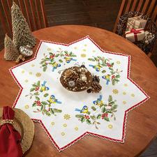 Tischdecken mit Spitze - Stern Zeitlose Weihnachts-Klassiker.