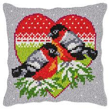 Wintervögel, Kreuzstichkissen Kreuzstichkissen - der beliebte Klassiker