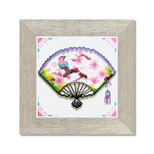 Kreuzstichbild - Kirschblüten-Fächer Easy Stitching – besonders einfache und schnelle Stick-Ideen