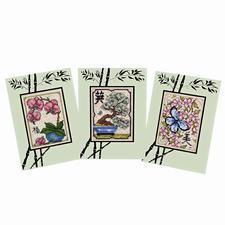 """3 Grußkarten """"Feng Shui"""" im Set Feng Shui Karten im Set."""