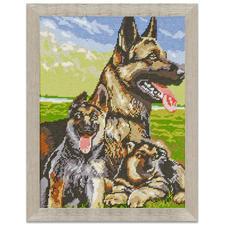 "Gobelinbild - Schäferhunde Klassisches Gobelinbild ""Schäferhunde"""