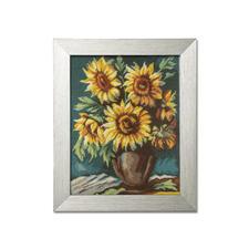 """Gobelinbild """"Sonnenblumen"""" Farbig vorgemalte Gobelins mit Kunststoffrahmen."""