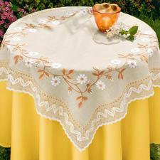 Tischdecke, Blütenbordüre