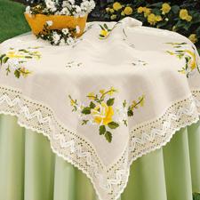 Tischdecke, Gelbe Rosen