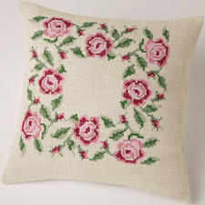 Kissen, Rosenblüten