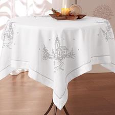 Tischdecke, Kirche, Weiß/Silber