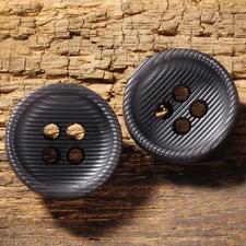 Rillenknopf aus Kunststoff, schwarz, Ø 28 mm, 1 Stück