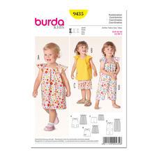 Burda Schnitt 9435 - Kombination für Kids.
