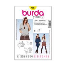"Burda Schnitt 7148 ""Kleid & Shirt & Rock""."