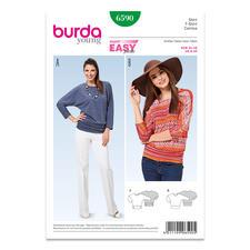 """Burda Schnitt 6590 - Shirt Kimono-Ärmel Burda Schnitt 6590 """"Shirt Kimono-Ärmel""""."""