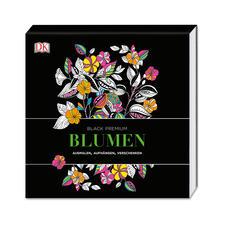"Ausmalbuch ""Black Premium – Blumen"""