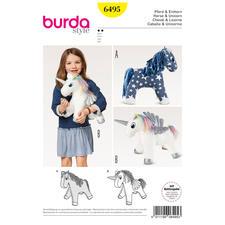 """Burda Schnitt 6495 - Kuscheltier Pferd & Einhorn Burda Schnitt 6495 """"Kuscheltier Pferd & Einhorn"""""""