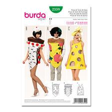 """Burda Schnitt 2359 - Karnevalkostüm - Pizza, Torte & Käse Burda Schnitt 2359 """"Karnevalkostüm - Pizza, Torte & Käse""""."""