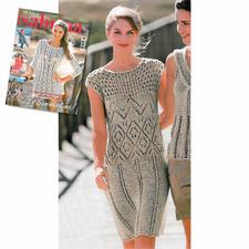 Modell 404/4, Kleid aus Bandana von Junghans-Wolle