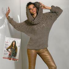 Modell 107/4, Pullover mit Loop aus Prato von Junghans-Wolle