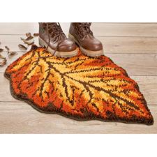 Formteppich - Herbstblatt Pflegeleichte Fußmatte Herbstblatt.